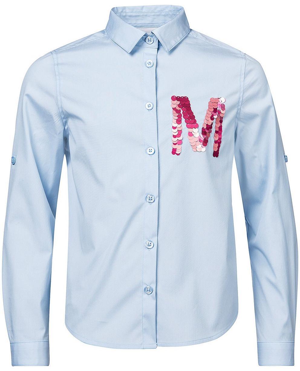 Hemden - Helltürkis - Bluse mit Paillettenbuchstabe